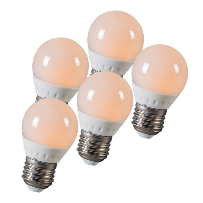 LED-kroglica-E27-3W-250-lumnov-približno-25W-set-5