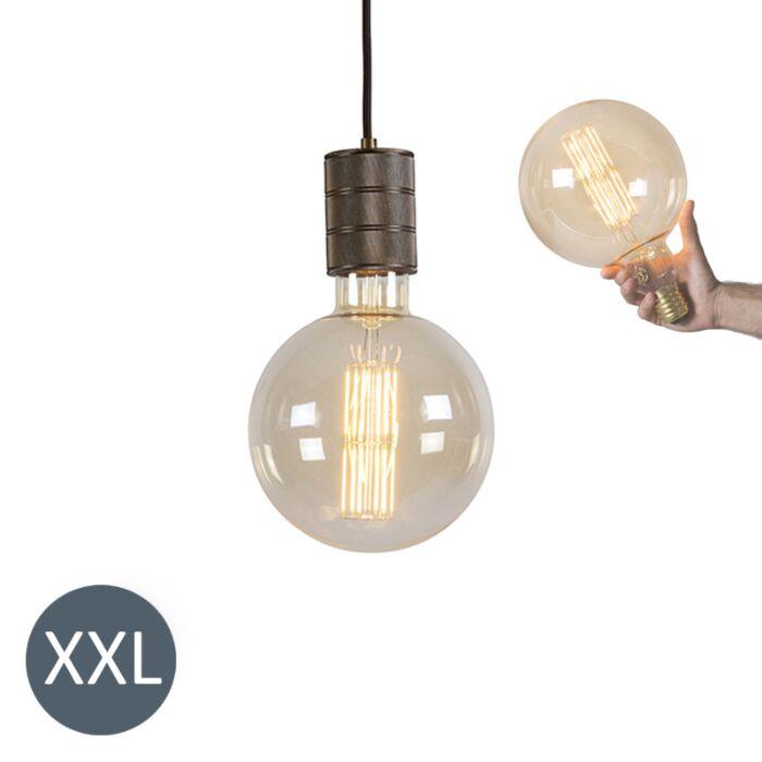 Viseča-svetilka-bronasta-Meglogloba-z-LED-zatemnitvijo