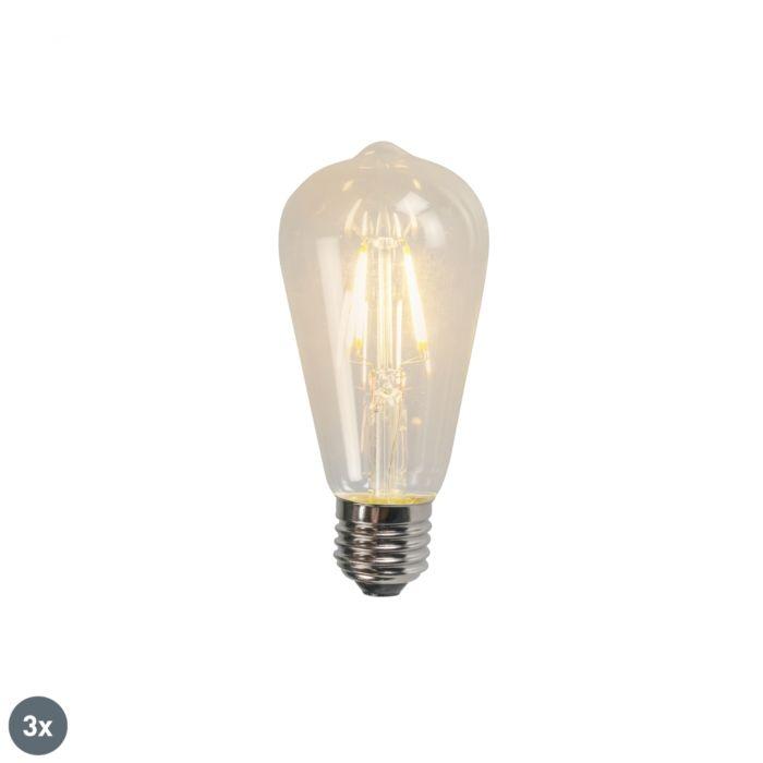 Komplet-3-E27-LED-žarnice-z-žarilno-nitko-ST64-4W-470LM-2700K