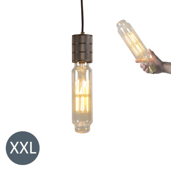Viseča-svetilka-Tower-bron-z-zatemnjeno-LED-svetilko