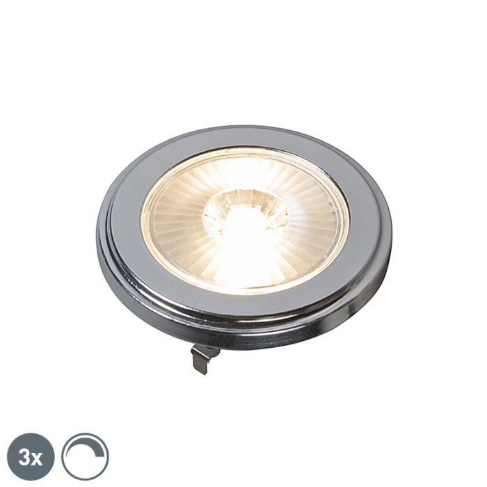 Komplet-3-LED-žarnic-AR111,-ki-jih-je-mogoče-zatemniti,-10W-800LM-3000K