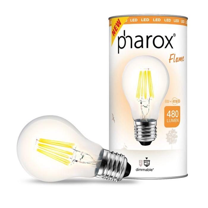 Pharox-LED-svetilka-Flame-E27-6W-480-lumnov