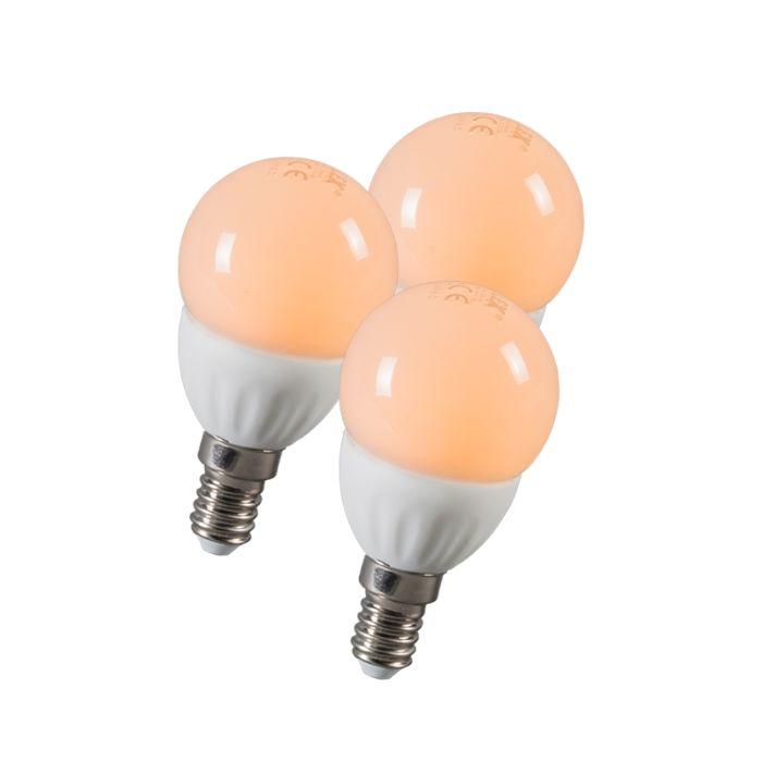 LED-kroglica-E14-3W-250-lumnov-približno-25W-komplet-3