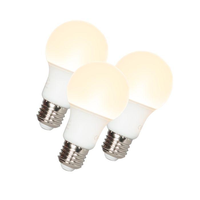 Komplet-3-LED-žarnice-A60-E27-9W-3000K