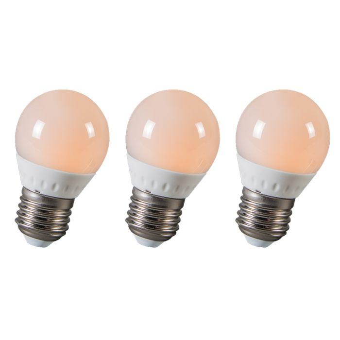 LED-kroglica-E27-3W-250-lumnov-približno-25W-komplet-3
