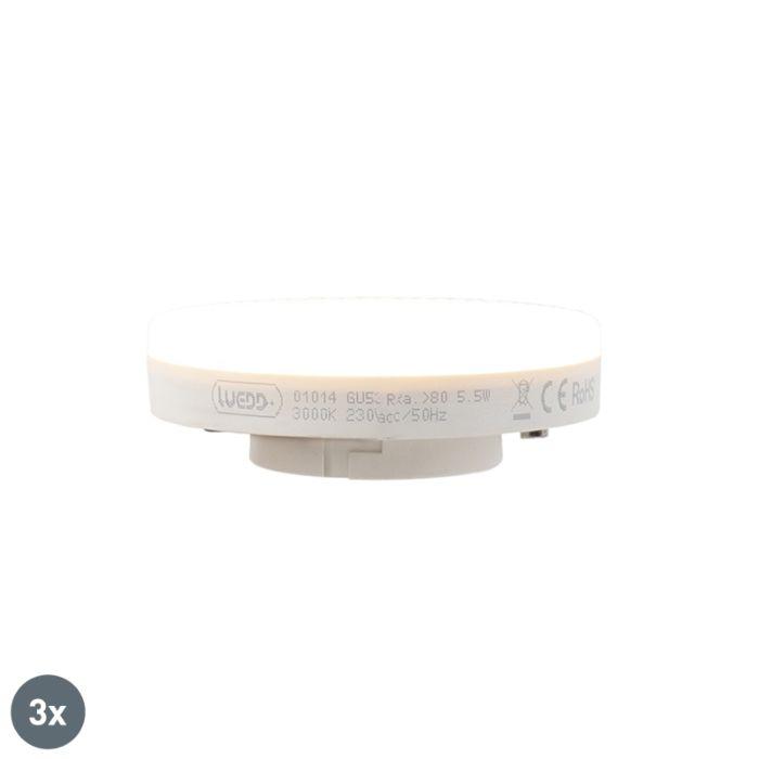 Komplet-3-LED-žarnic-GX53-5,5-W-470-lumnov-3000K