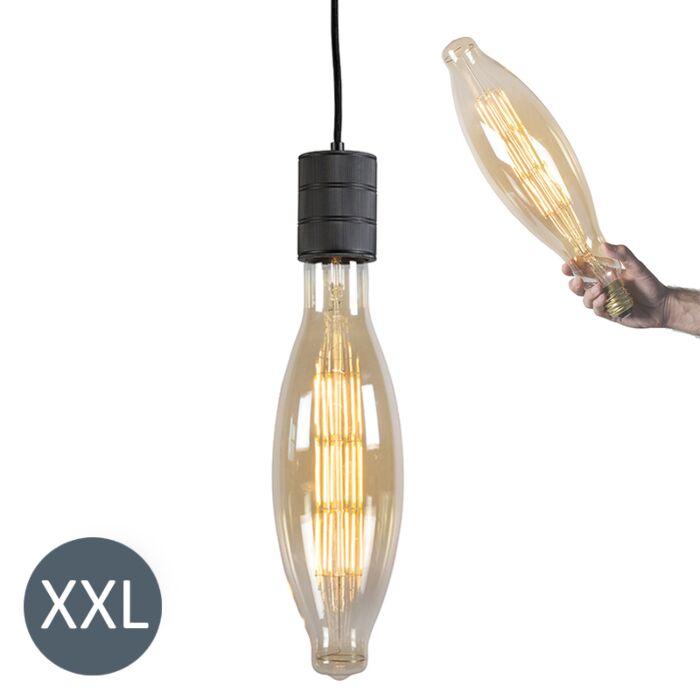 Viseča-svetilka-Elips-črna-z-zatemnjeno-LED-svetilko