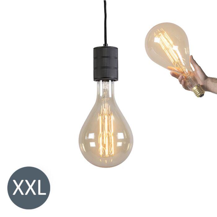 Viseča-svetilka-Splash-črna-z-zatemnjeno-LED-svetilko