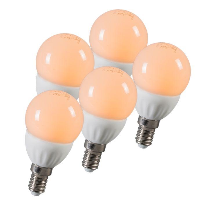 LED-kroglica-E14-3W-250-lumnov-približno-25W-set-5