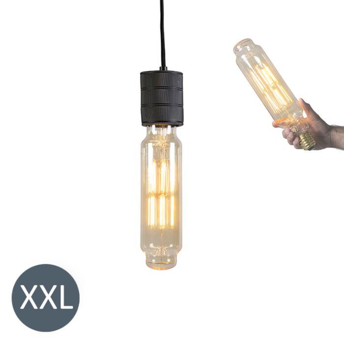Viseča-svetilka-Tower-črna-z-zatemnjeno-LED-svetilko