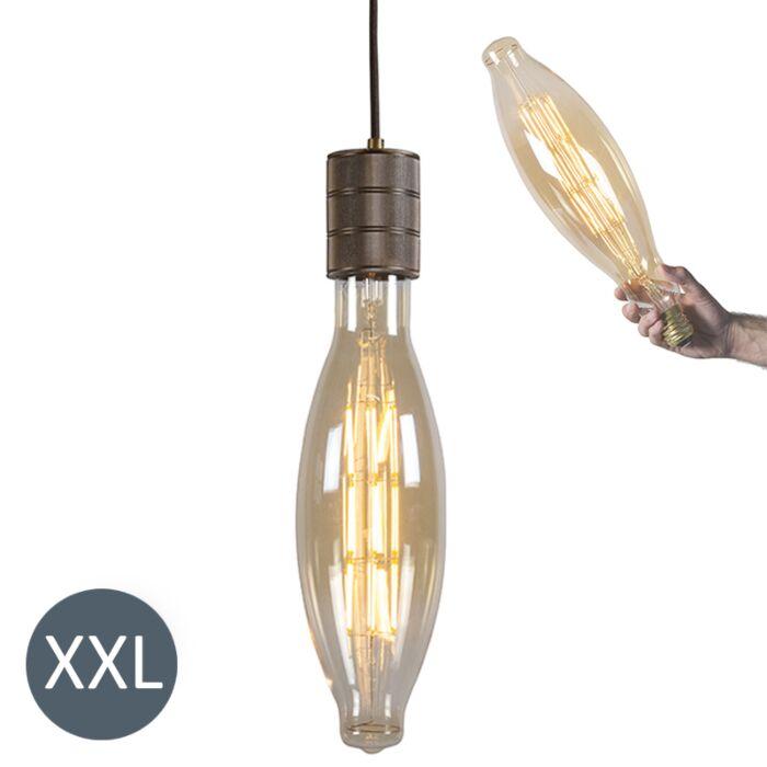Viseča-svetilka-Elips-bron-z-zatemnjeno-LED-svetilko