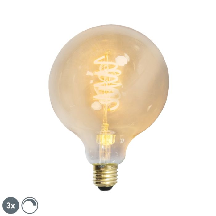 Komplet-3-E27-zatemnjenih-LED-sukanih-žarilnih-nitk-G125