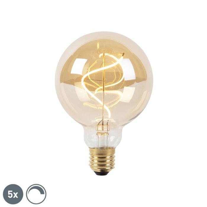 Komplet-5-spiralnih-LED-žarnic-z-žarilno-nitko-E27-G95-goldline