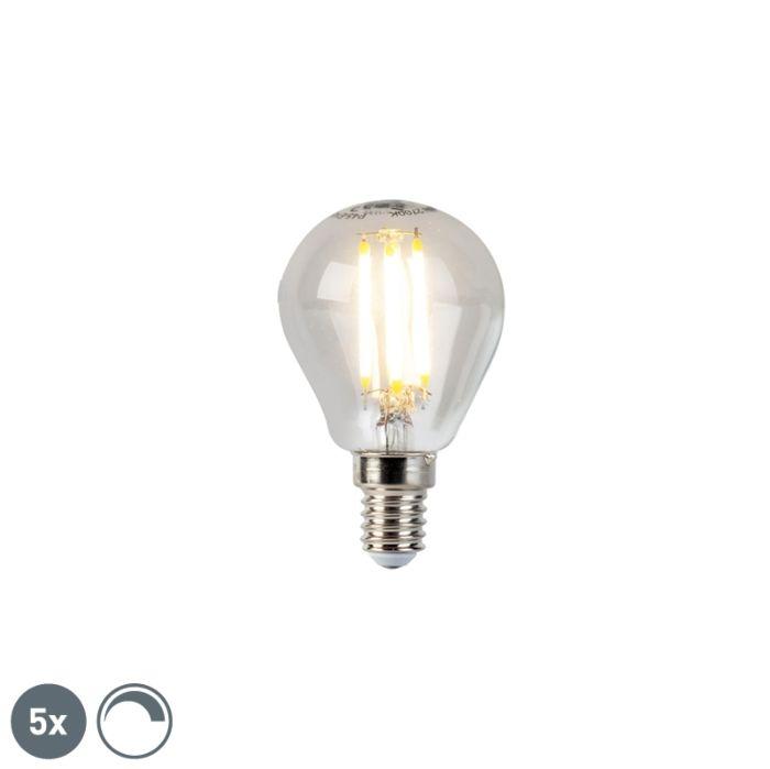 Komplet-5-krogličnih-žarnic-z-žarilno-nitko-E14-5W-470lm-2700K