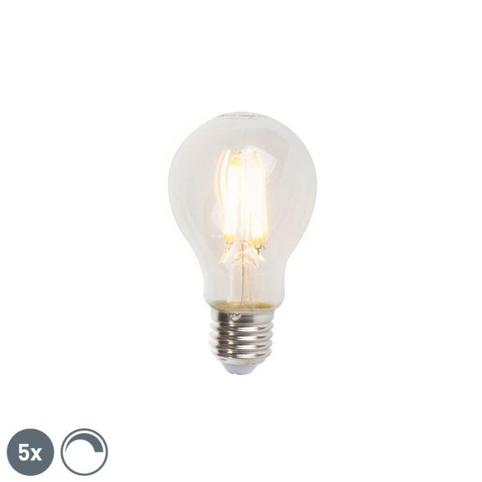 Komplet-5-žarnic-z-žarilno-nitko-E27-A60-7W-806lm-2700K