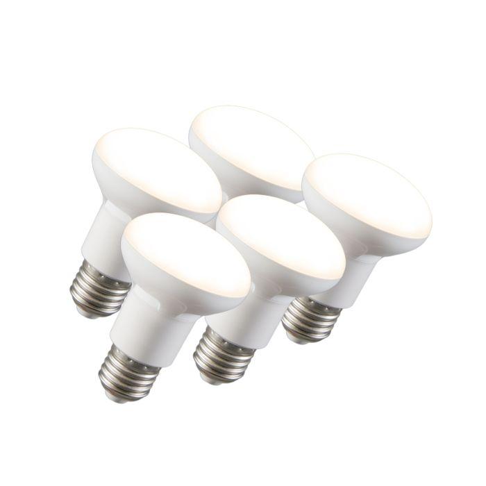 Komplet-5-LED-reflektorskih-svetilk-R63-E27-240V-8W-2700K-zatemnitveno