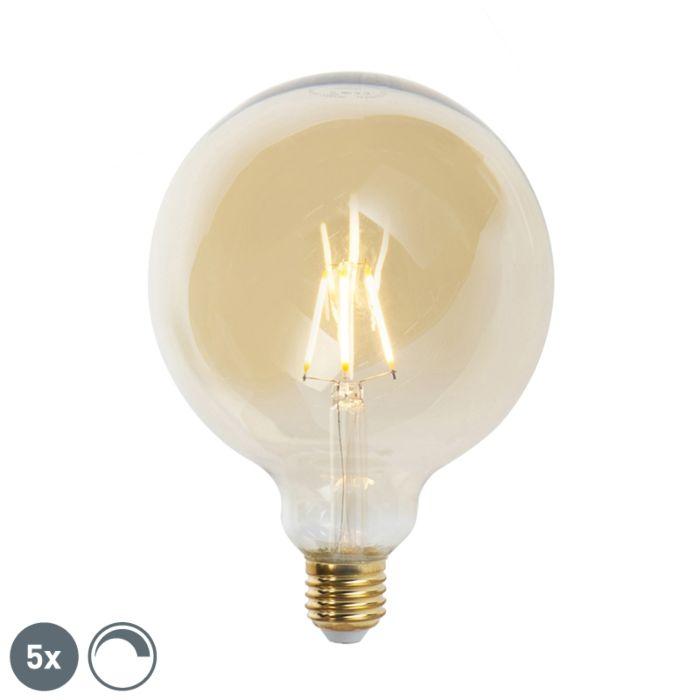 Komplet-5-žarnic-z-žarilno-nitko-E27-G125-goldline-2200K