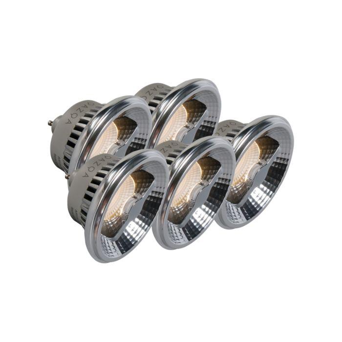 Komplet-5-LED-diod-GU10-AR111-12W-240V-3000K-za-zatemnitev