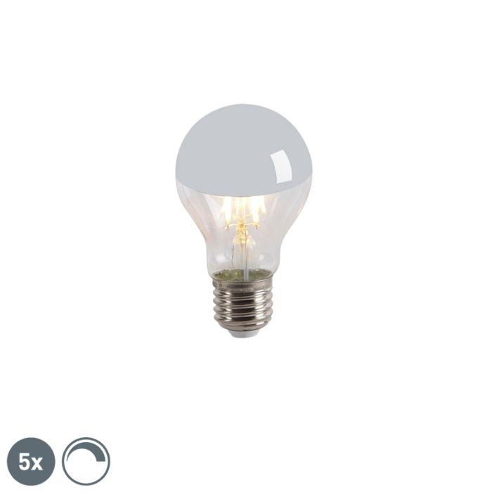 Komplet-5-LED-ogledal-z-žarilno-nitko-E27-240V-4W-300lm-A60-zatemnitveno