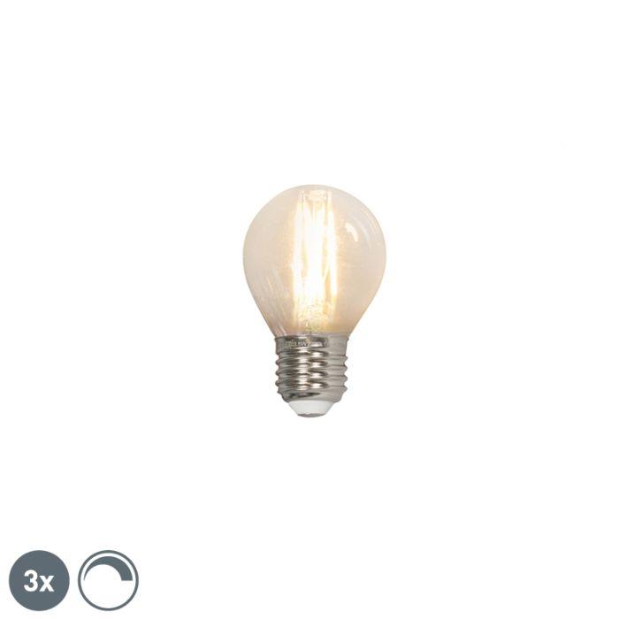 Komplet-3-LED-žarnic-z-žarilno-nitko-E27-240V-3,5W-350lm-P45-zatemnljiv