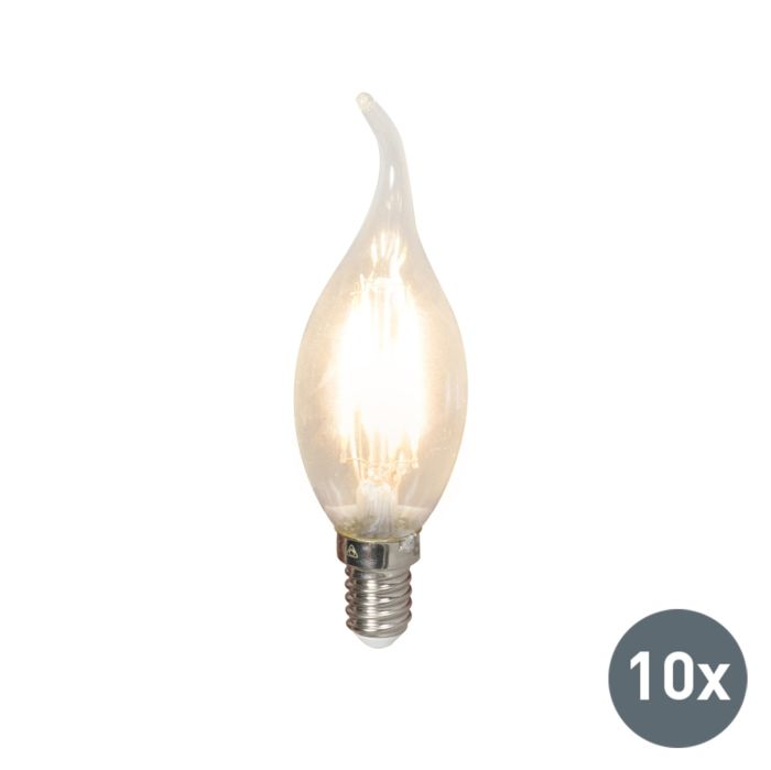 Komplet-10-LED-žarnic-z-žarilno-nitko-E14-240V-3,5W-350lm-BXS35-zatemnitveno
