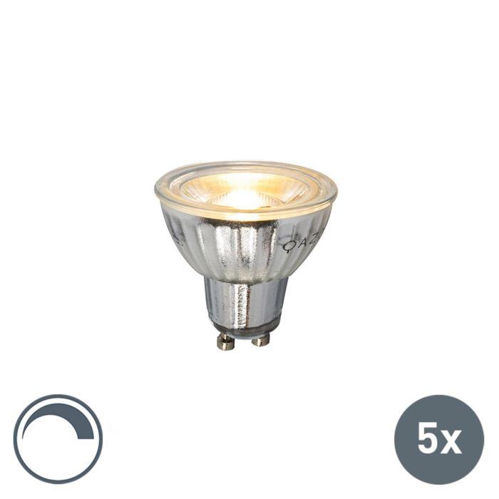 Komplet-5-GU10-LED-žarnic-230V-5W-380LM-2700K-zatemnitve