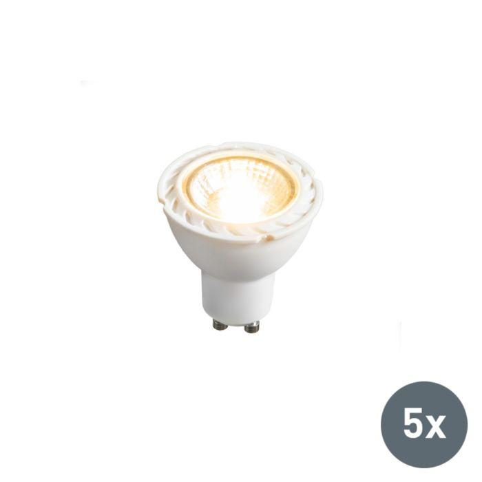 Komplet-5-LED-žarnic-GU10-240V-7W-2700K-za-zatemnitev