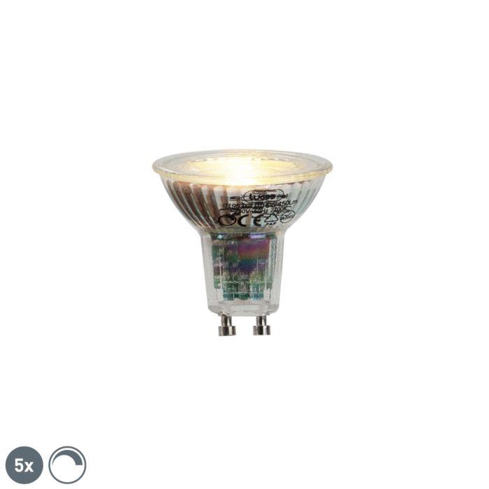 Komplet-5-GU10-LED-žarnic-6W-450lumen-2700K-zatemnitve