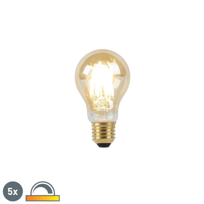 Set-5-E27-LED-žarnic-8W-2000-2600K-zatemnjena-do-tople-žarilne-nitke