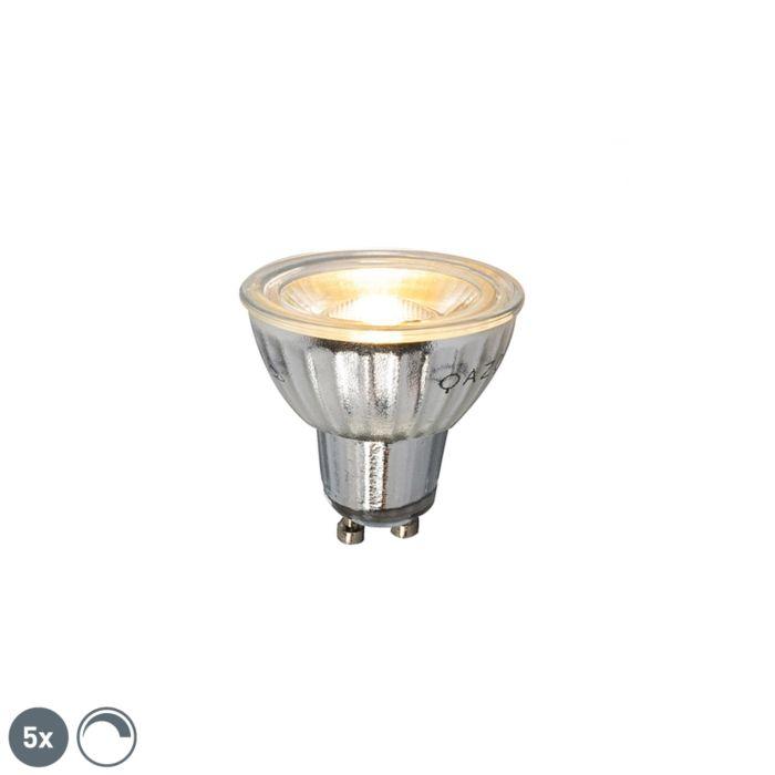 Set-5-GU10-zatemnljivih-LED-žarnic-7W-500LM-2700K