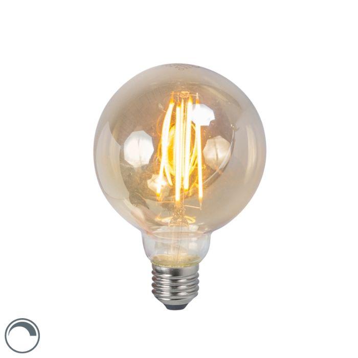 LED-žarnica-z-žarilno-nitko-E27-5W-2200K-G95-zatemnitev-dima