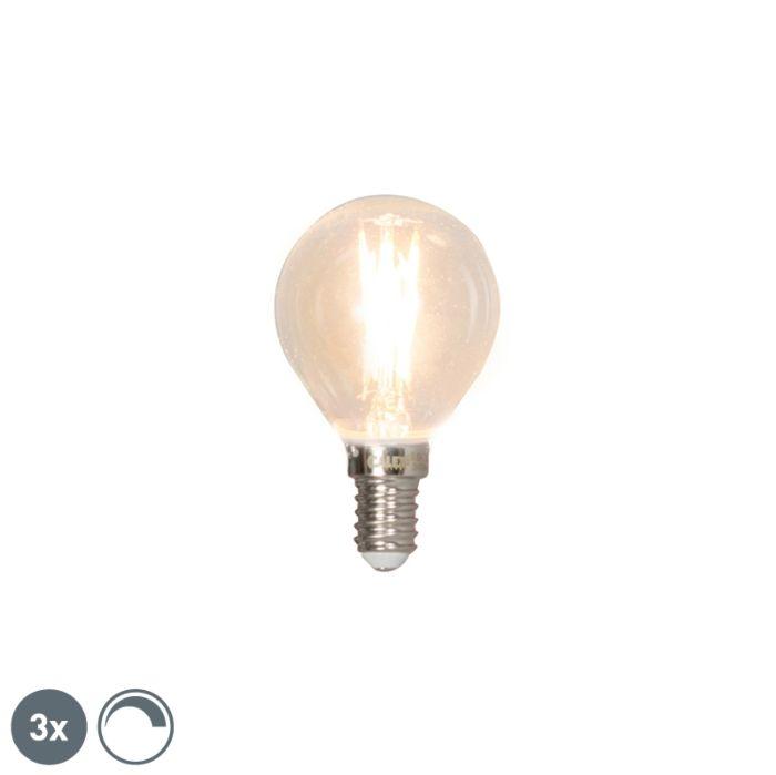 Komplet-3-krogličnih-žarnic-z-žarilno-nitko-E14-3W-350lm-2700K