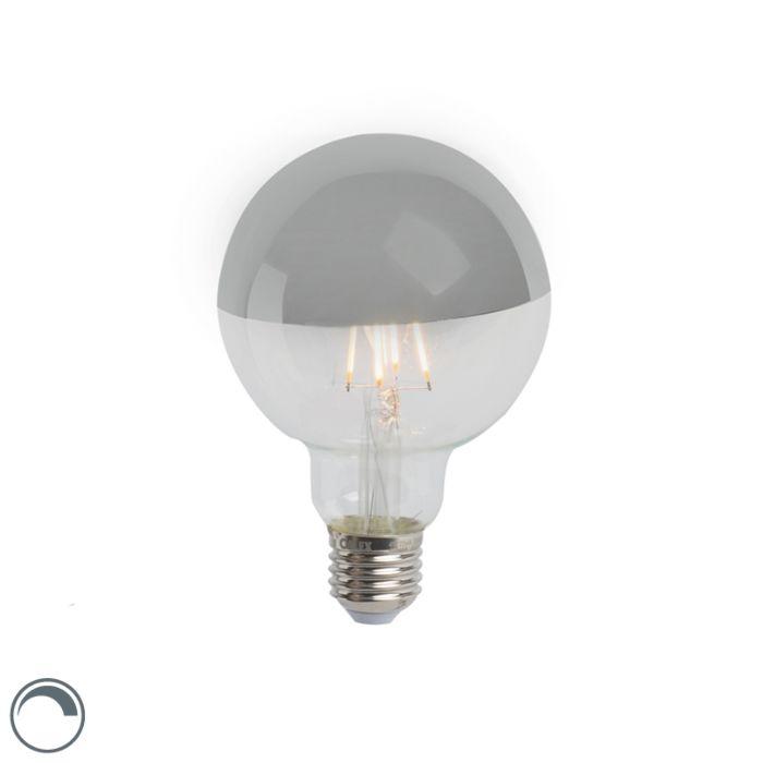 LED-ogledalo-z-žarilno-nitko-žarnice-srebrno-E27-240V-4W-280lm-2300K-G95-zatemnljivo