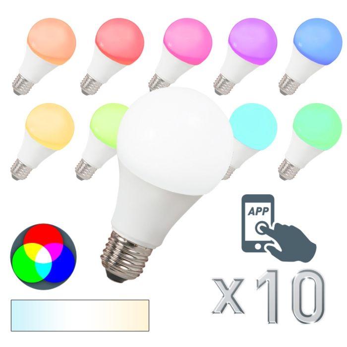 Komplet-10-LED-žarnic-E27-240V-7W-500lm-A60-Smart-Light