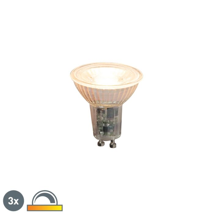 Komplet-3-zatemnljivih-LED-svetilk-GU10-5,5W-360lm-2000K---2700K