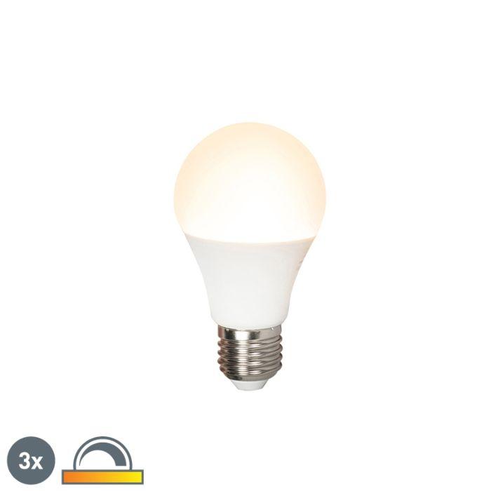 Komplet-3-LED-svetilk-E27-240V-7W-510lm-A60-zatemnljiv