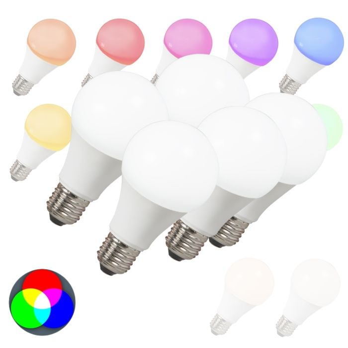 Komplet-5-LED-žarnic-E27-240V-7W-500lm-A60-Smart-Light