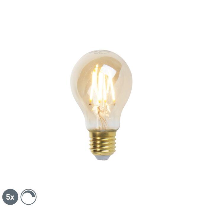 Komplet-5-žarnic-z-žarilno-nitko-E27-z-žarilno-nitko-Goldline-360lm-2200K