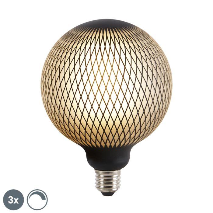 Komplet-treh-zatemnljivih-LED-žarnic-E27-DECO-4W-180-lm-2700K