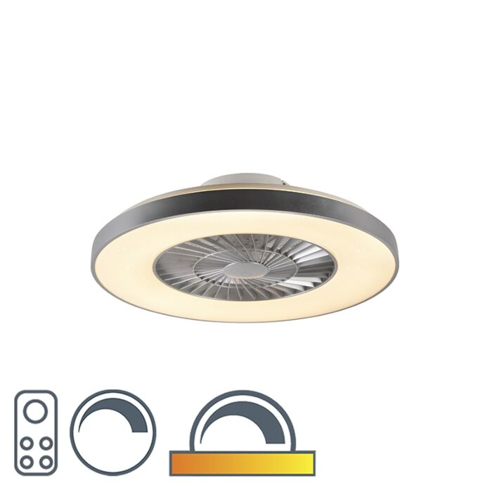 Stropni-ventilator-srebrn-z-efektom-zvezde,-ki-ga-je-mogoče-zatemniti---Climo
