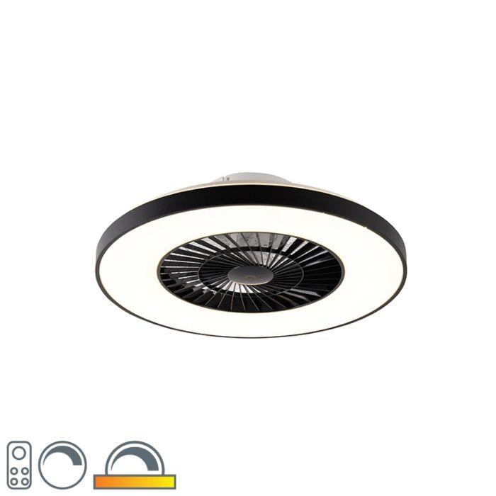 Stropni-ventilator-črne-barve-z-LED-z-daljinskim-upravljalnikom---Climo