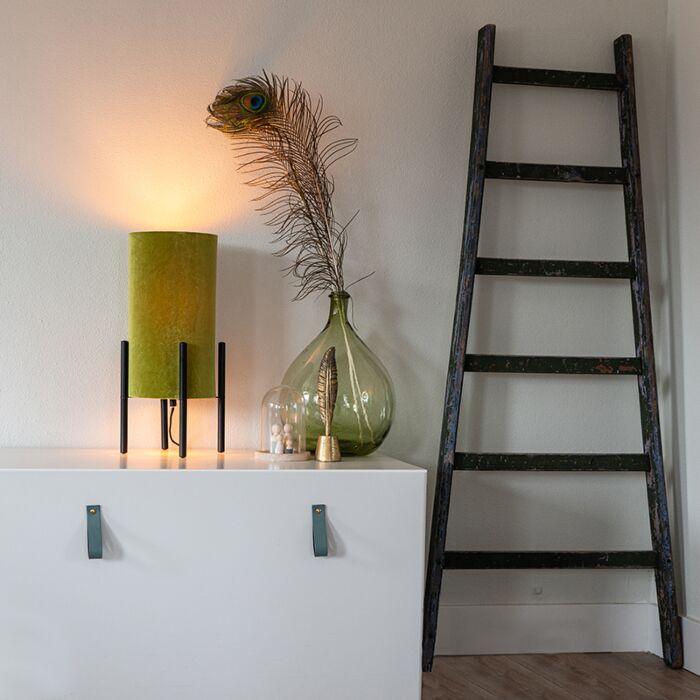 Dizajn-namizna-svetilka-črn-žamet-odtenek-zelena-z-zlatom---Rich