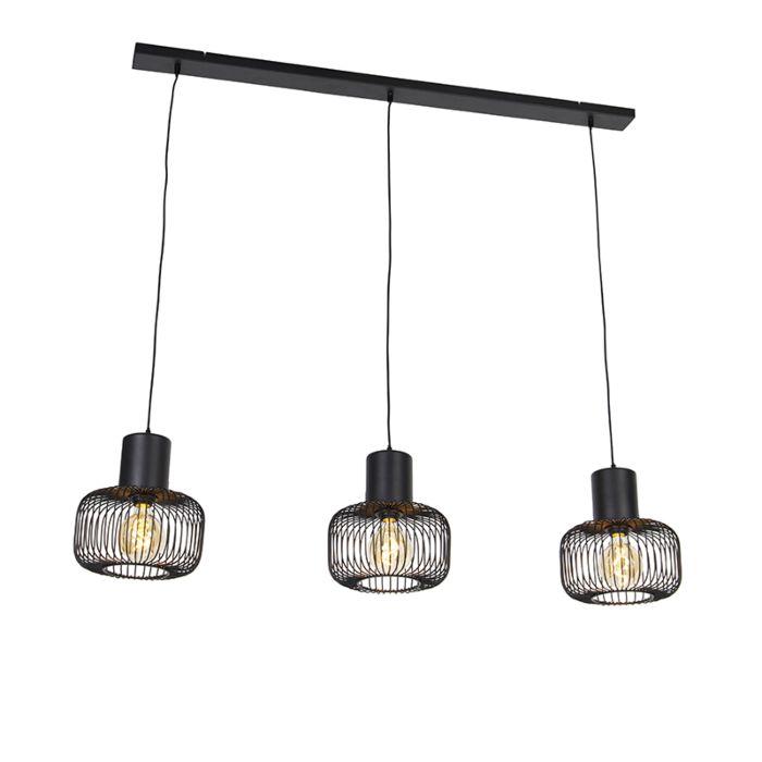 Dizajn-viseča-svetilka-črna-3-luč---Baya