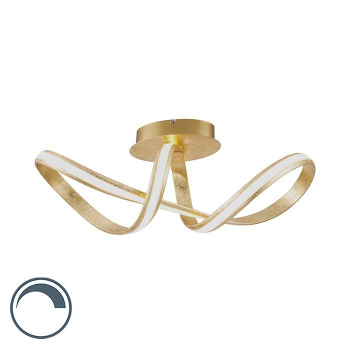 Dizajn-stropne-svetilke-z-zlatom-vključno-z-LED---Belinda
