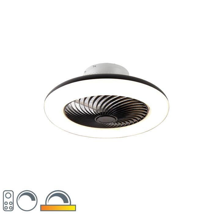Stropni-ventilator-črne-barve-z-LED-z-daljinskim-upravljalnikom---Clima