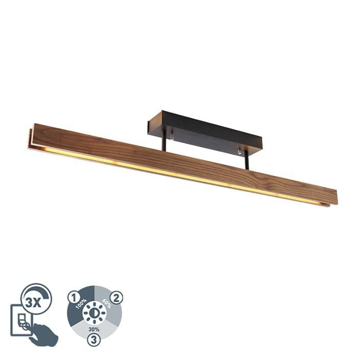 Lesena-stropna-svetilka,-vključno-s-3-stopenjsko-LED-zatemnitvijo---Holz