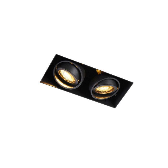 Vgradna-točkovna-črna-vrtljiva-in-nagibna-luč-z-dvema-svetlobama-Trimless---Oneon-Honey