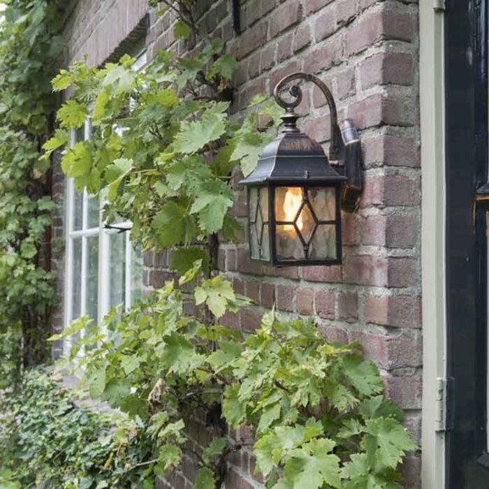 Romantična-zunanja-stenska-luč-bronasta---London