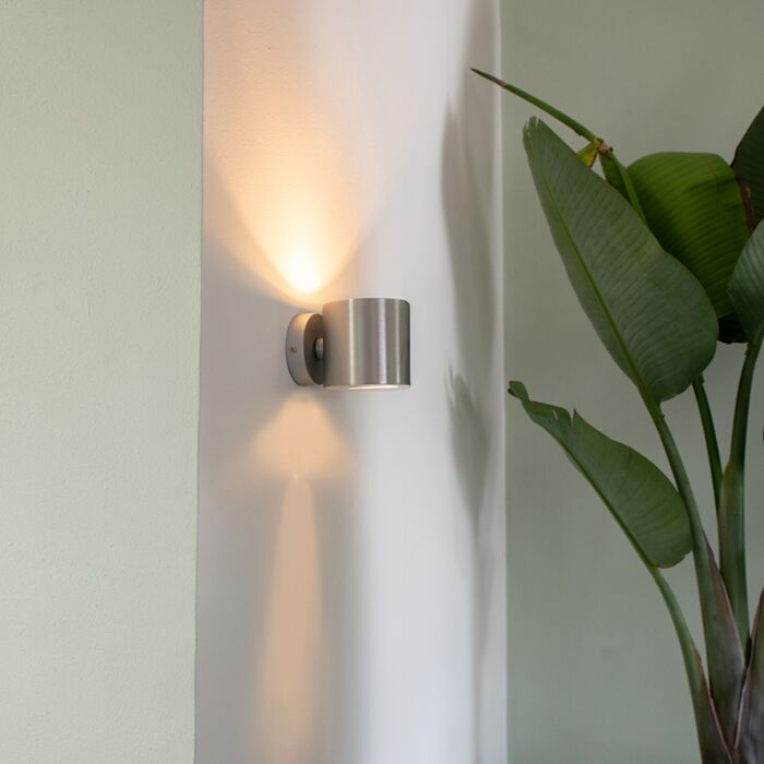 Moderna-stenska-svetilka-aluminijasta-okrogla---Učinek