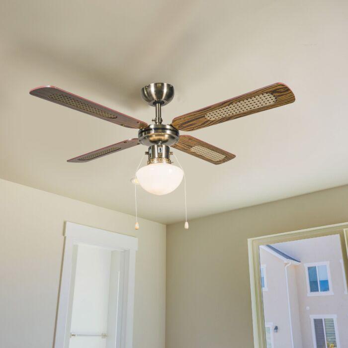 Industrijski-stropni-ventilator-s-svetilko-100-cm-les---veter